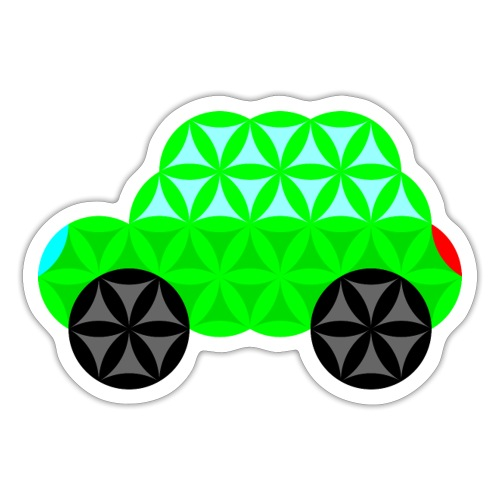 The Car Of Life - M01, Sacred Shapes, Green/R01. - Sticker
