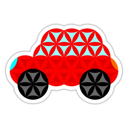 The Car Of Life - M01, Sacred Shapes, Red/R01. - Sticker