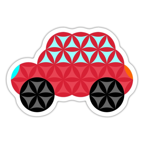 The Car Of Life - M02, Sacred Shapes, Red/186 - Sticker