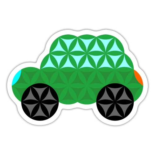 The Car Of Life - M01, Sacred Shapes, Green/363 - Sticker