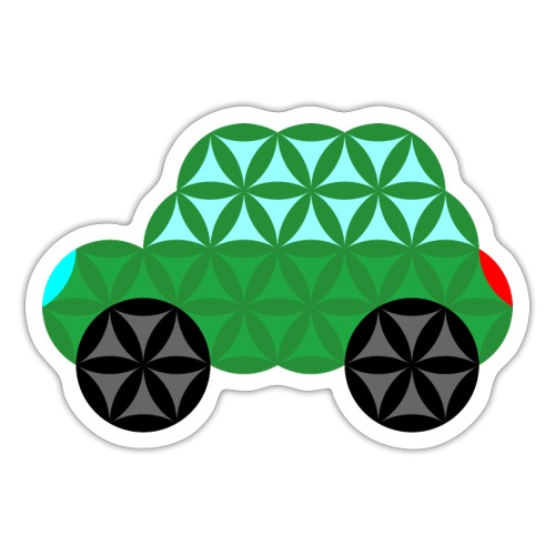 The Car Of Life - M02, Sacred Shapes, Green/363 - Sticker