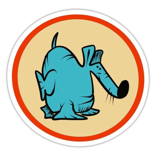 Doggo Blå Burt - Klistermärke