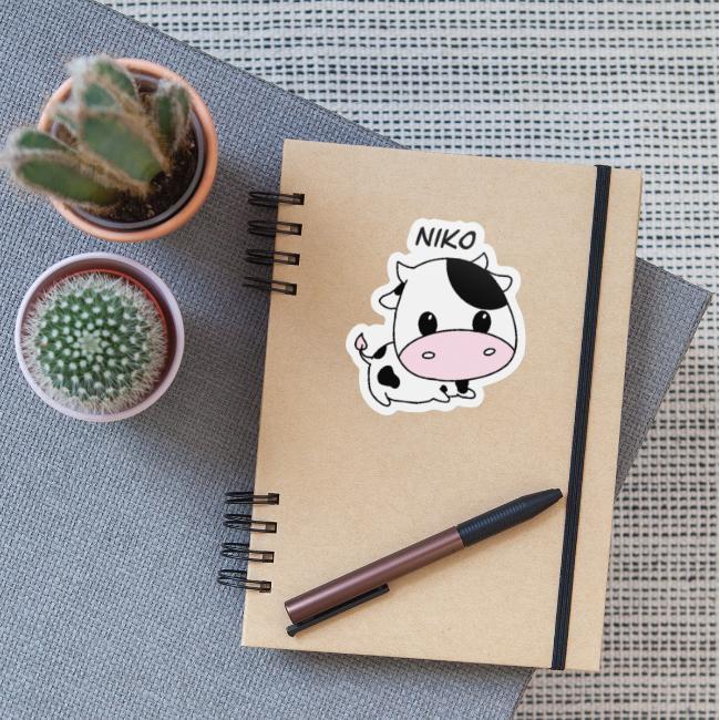 Cute cow sticker!