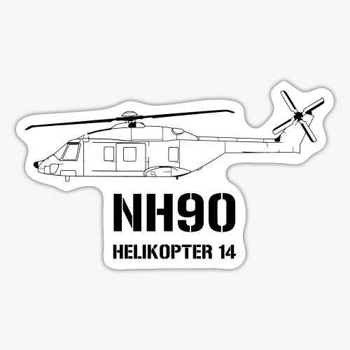 Helikopter 14 - NH 90 - Klistermärke