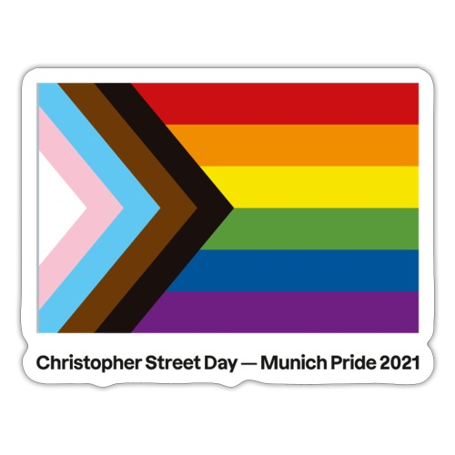 CSD München 2021 - Progress Pride Flag - Sticker