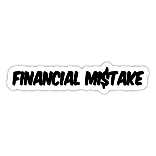 Finanzieller Ruin schwarz I Shitbox Level 3000 - Sticker