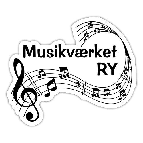 Musikværket Ry (sort tryk) - Sticker