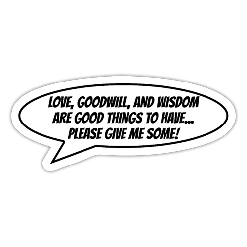 Love and Goodwill - Sticker