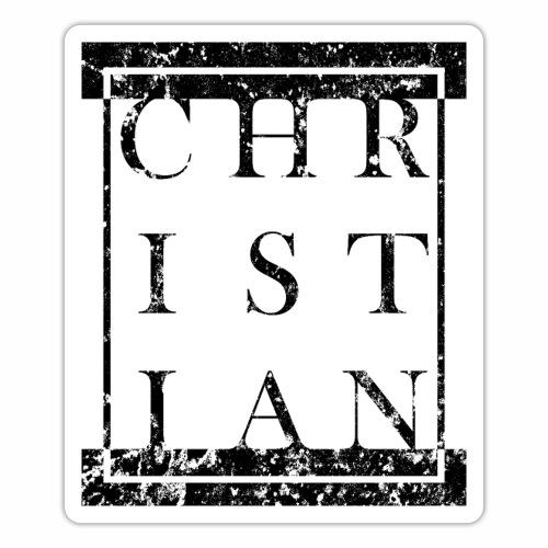 CHRISTIAN - Name Grunge Block Box Geschenkideen - Sticker