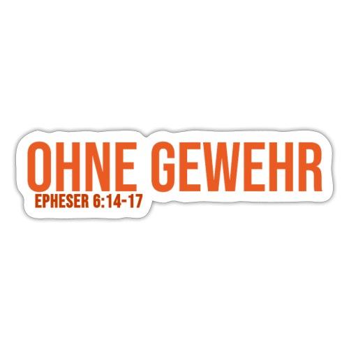 OHNE GEWEHR - Print in orange - Sticker