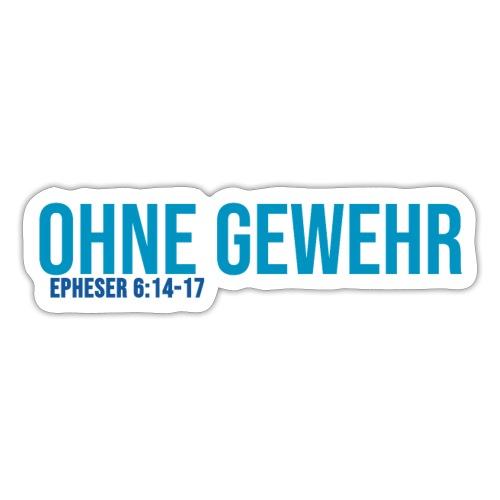 OHNE GEWEHR - Print in blau - Sticker