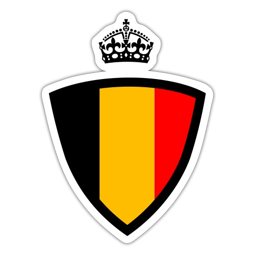Koninkrijk belgië schild - Autocollant