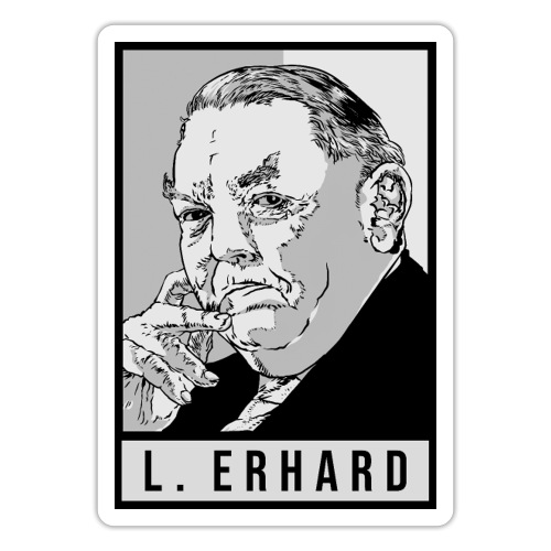 Ludwig Erhard (CDU) - Sticker