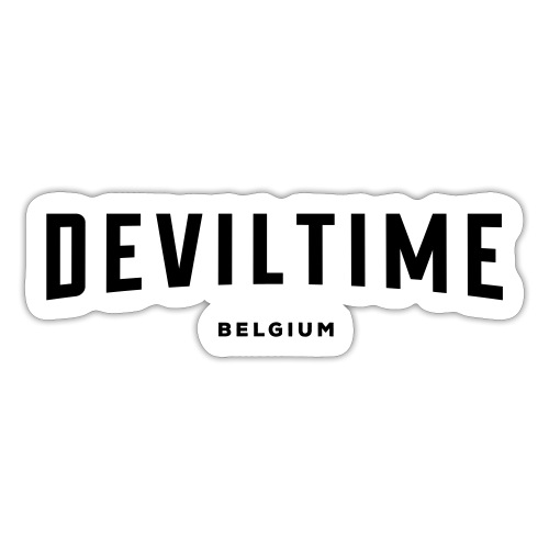 deviltime Belgium België Belgique - Autocollant