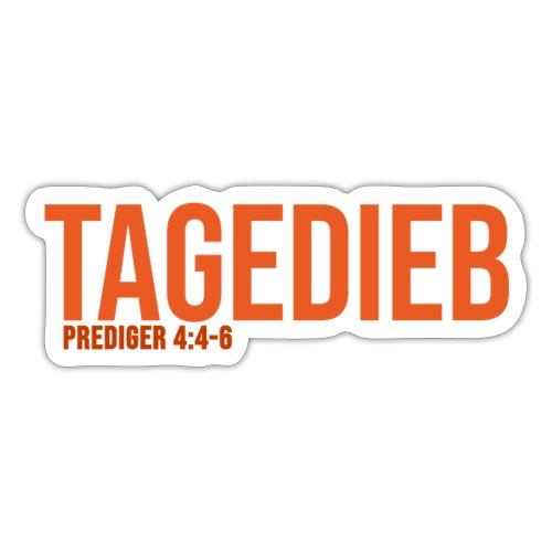 TAGEDIEB - Print in orange - Sticker