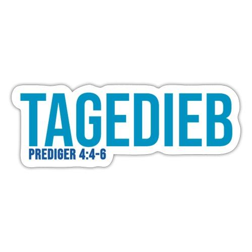TAGEDIEB - Print in blau - Sticker