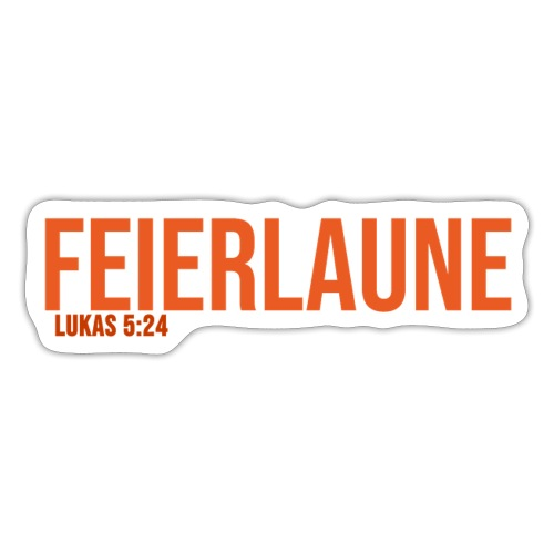 FEIERLAUNE - Print in orange - Sticker