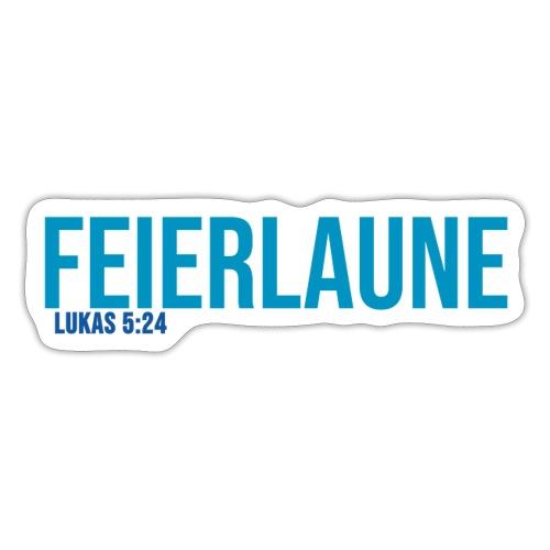 FEIERLAUNE - Print in blau - Sticker