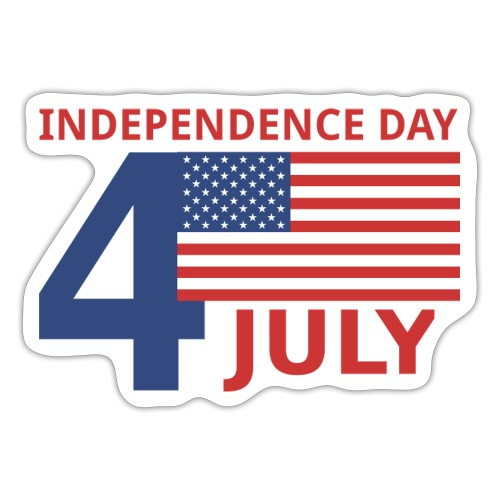4 luglio giorno della indipendenza - Adesivo