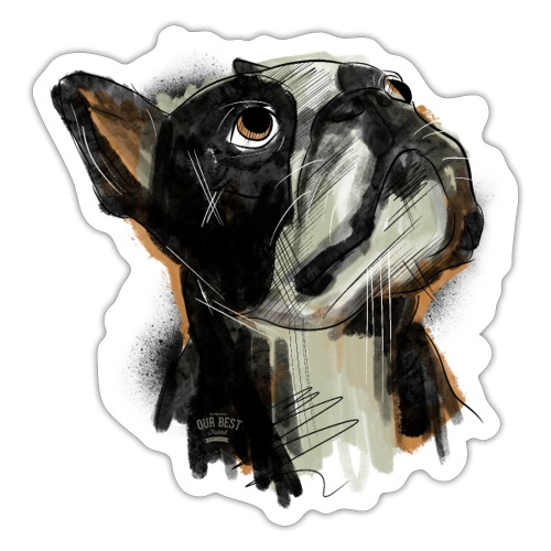 Französische Bulldogge Zeichnung - Sticker