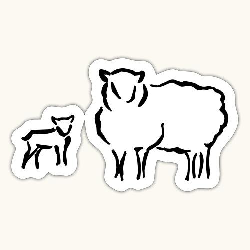 Schafzucht Lamm lustig Geschenkidee Familie Schafe - Autocollant
