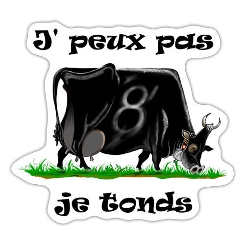 vache, vaches, bétail, Je peux pas je tonds - Autocollant