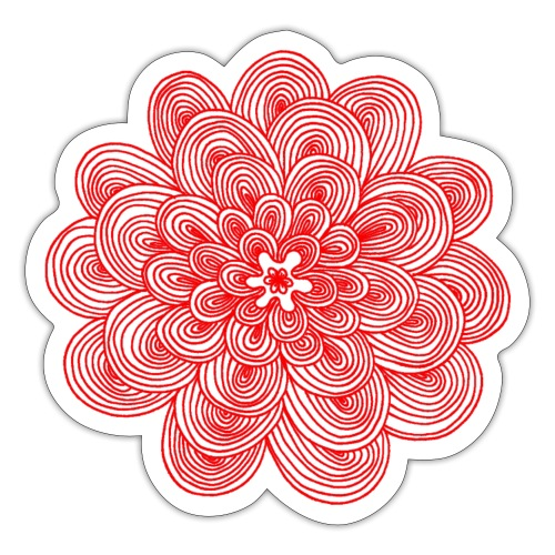 hypnotic flower red - Adesivo