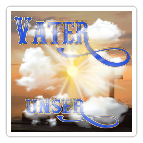 VATER UNSER - Sonnenschein Kreuz Wolken Meer - Sticker