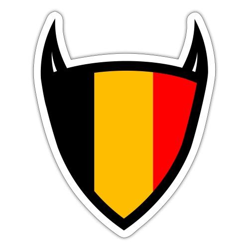 Diable du bouclier national belge - Autocollant