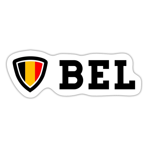 BEL Belgium Blason tricolore Football - Autocollant