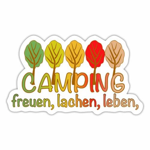 Camping, freuen, lachen, leben - deutsch - Sticker