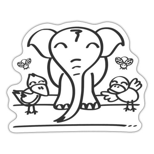 78 elephant - Sticker