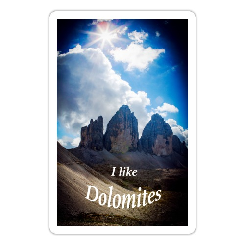 I like Dolomites Kopie - Sticker