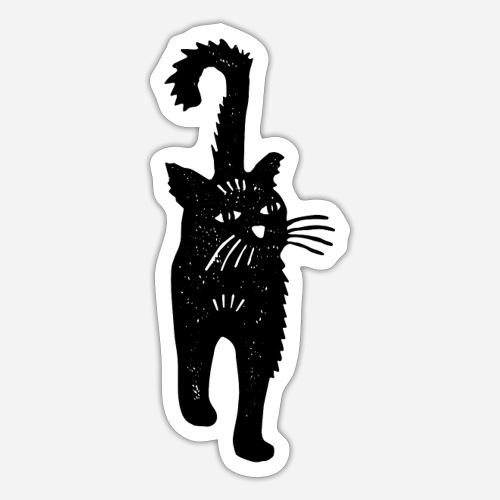 Kunstdruck: Schwarze Katze für Katzenliebhaber - Sticker