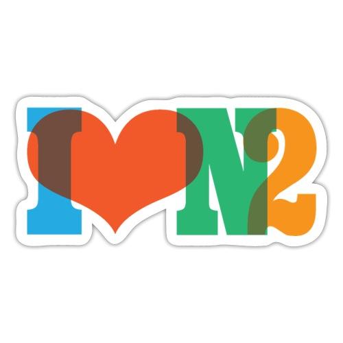 I LOVE N2 Summer Social Colours - Sticker