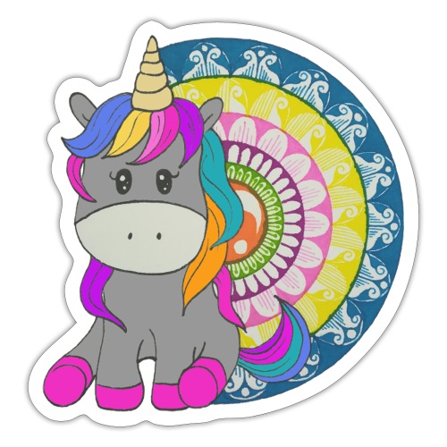 Unicorno Mandala - Adesivo