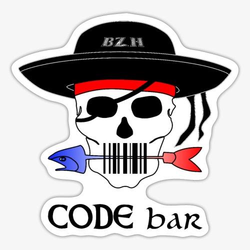 Code Bar couleur - Autocollant