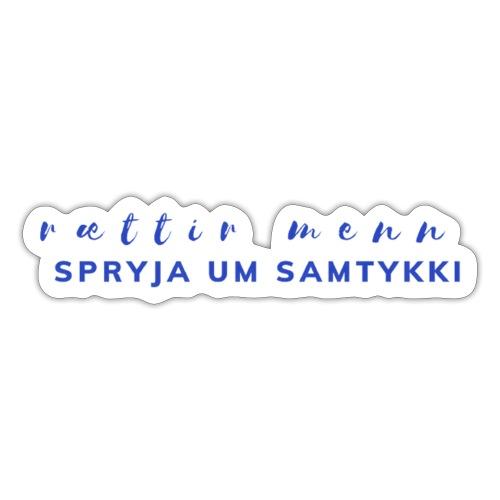 rættir menn - Sticker