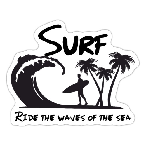 Ride the waves of the sea - Adesivo