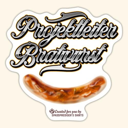Grillen Design Projektleiter Bratwurst - Sticker