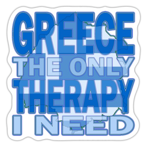 GREECE the only therapy i need - Thassos / Thasos - Sticker