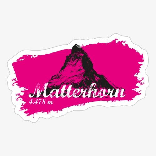 Matterhorn - Matterhorn in pink - Sticker