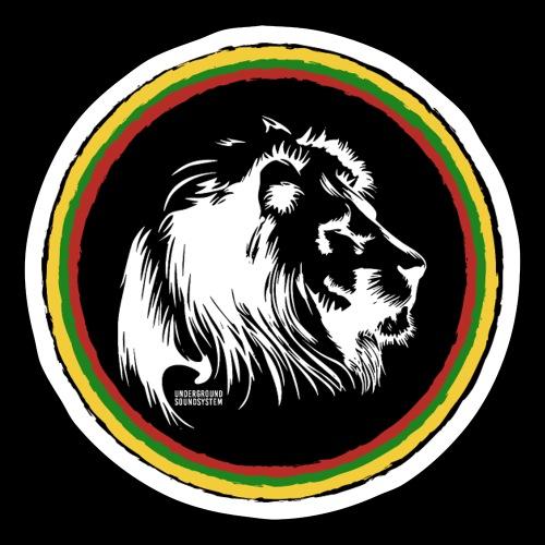 LION HEAD SISSOR CUT UNDERGROUND SOUNDSYSTEM - Sticker