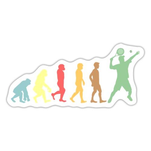 Evolutionen Av Människan Till Padelspelare - Klistermärke