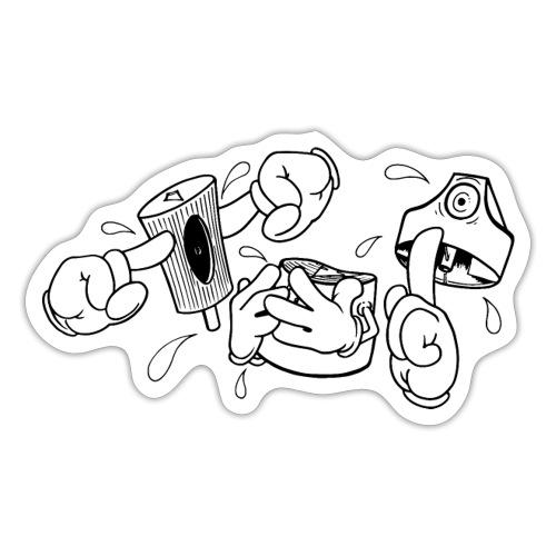 Fat Cap Expressions - Sticker