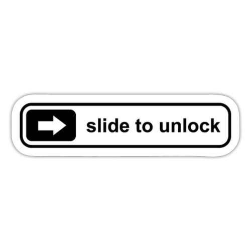 Slide to unlock - Sticker