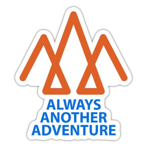 Orange logo, blue text - Sticker