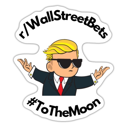 Wallstreetbets - to the moon - Sticker