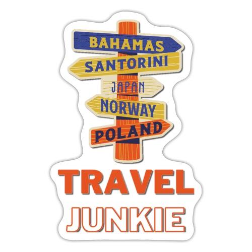 traveljunkie - i like to travel - Sticker