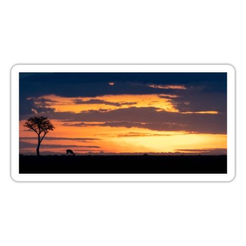 African sunset - Pegatina